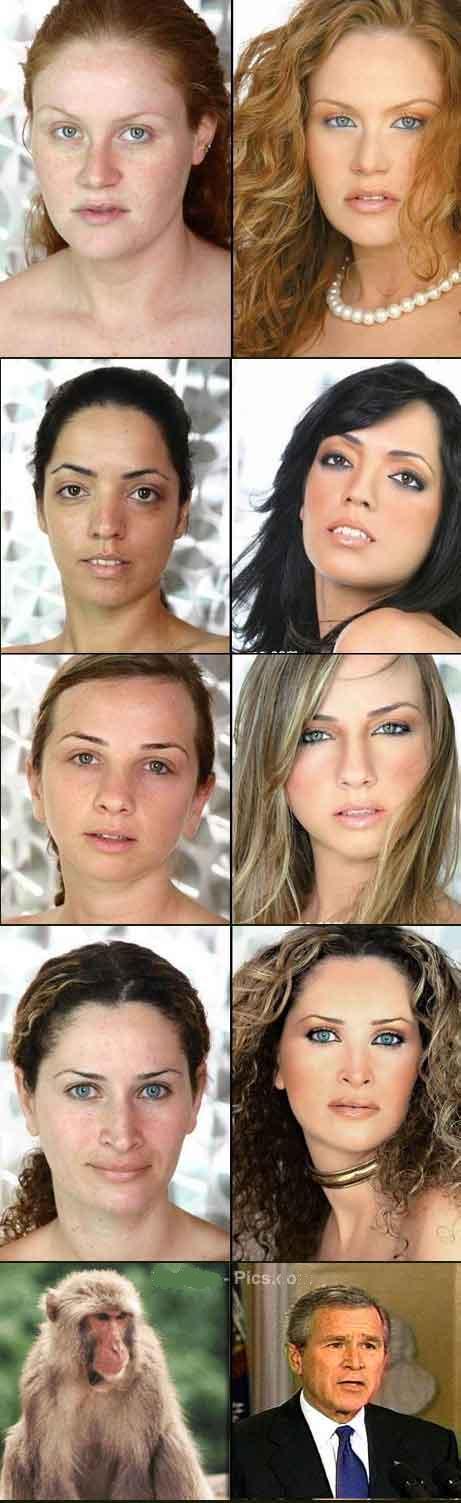 بازیگران هالیوود قبل و بعد از آرایش